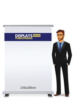 Roll up publicitario 200x200 cm.