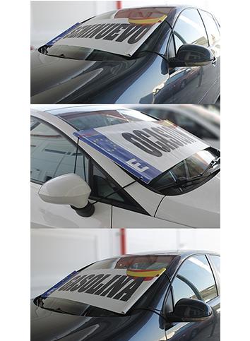 Parasol Publicitario para Vehículos