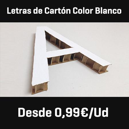 letras carton blanco