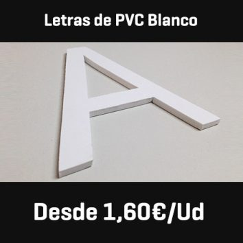 letras pvc blanco