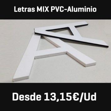 letras pvc frente aluminio