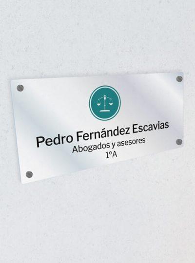 Placa abogado